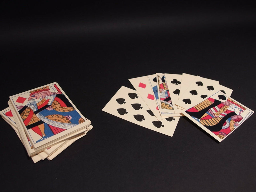 Antique Vintage Style Colonial Deck of Playing Cards - Early Home Decor