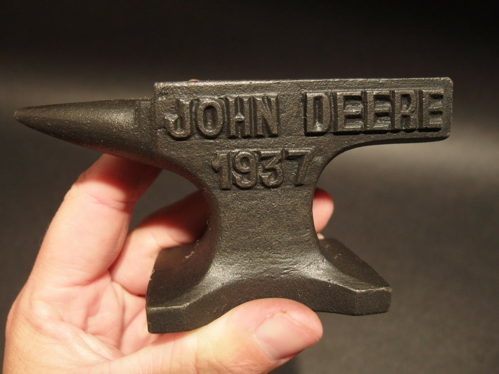 Vintage Antique Style Cast Iron 1937 John Deere Anvil - Early Home Decor