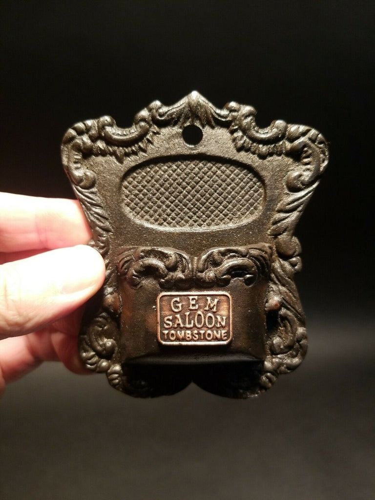 Antique Vintage Style Cast Iron Match Holder - Early Home Decor