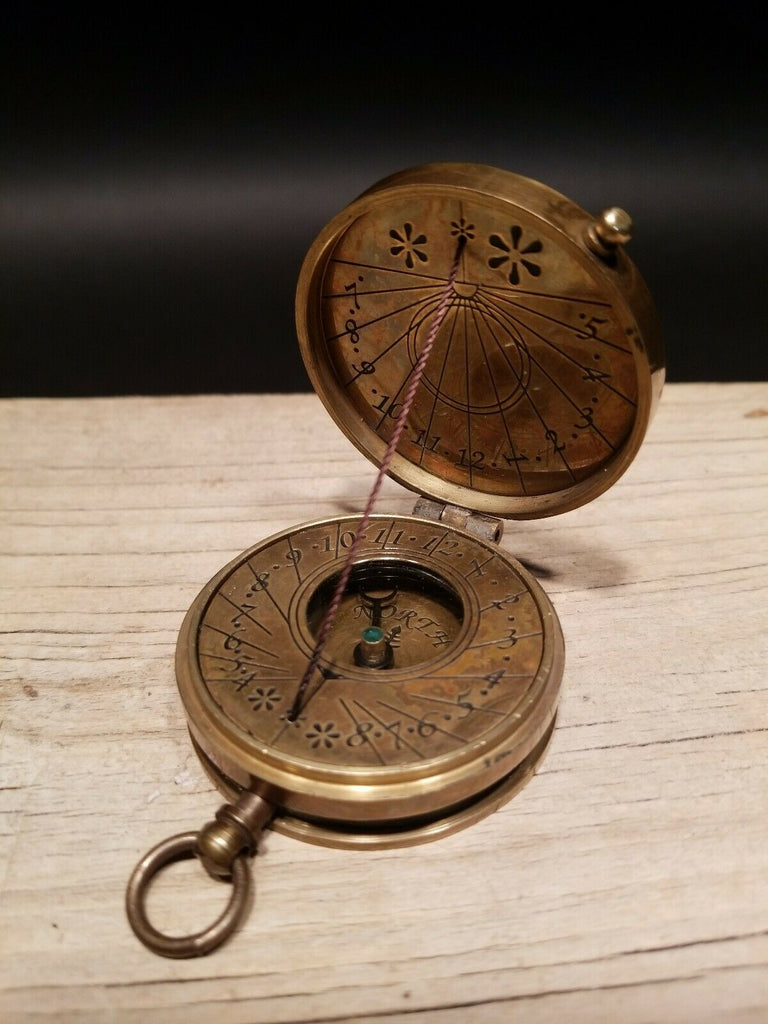 Vintage Antique Style Sundial Compass - Early Home Decor