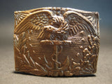 Antique Style Civil War Union Revenue Cutter Service Belt Plate Eagle w Anchor - Early Home Decor