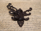 Antique Vintage Style Wall Hook Swivel Folding Coat Rack Hanger Hardware 3 arm - Early Home Decor