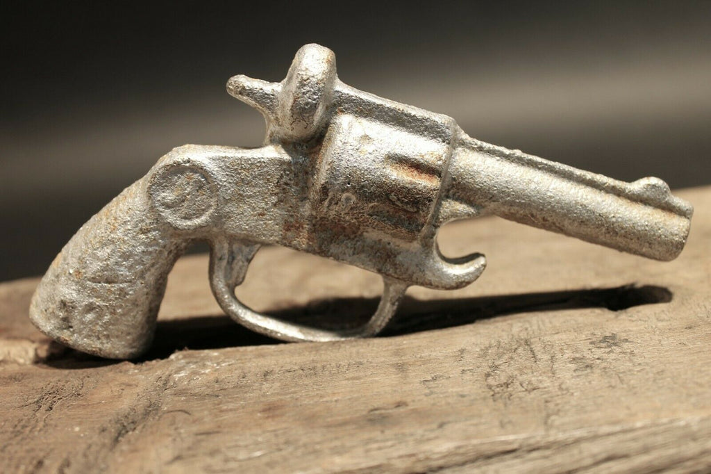 Antique Vintage Style Cast Iron Pistol Revolver Bottle Opener - Early Home Decor