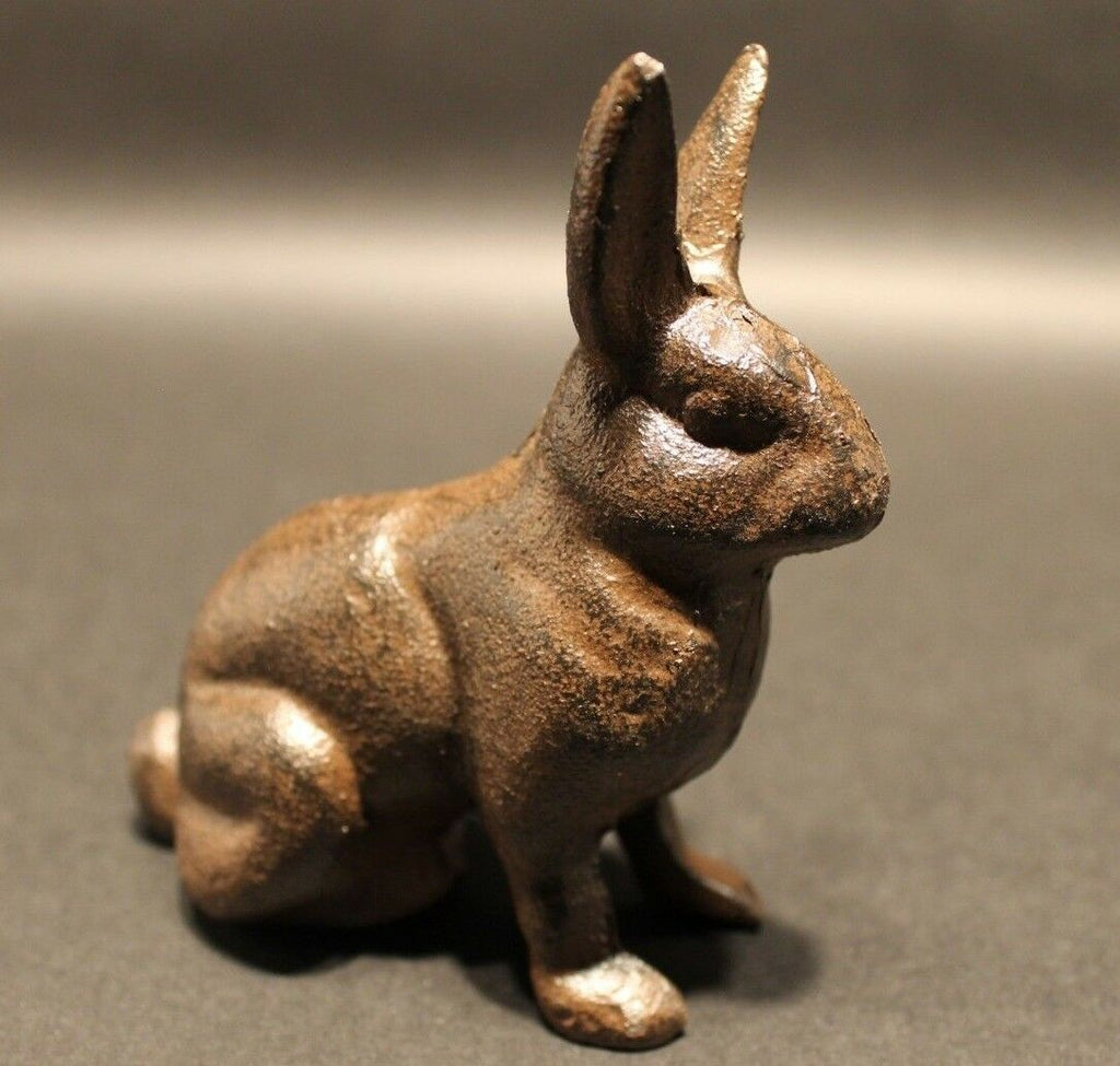 Antique Vintage Style Cast Iron Garden Table Door Stop Rabbit Hare - Early Home Decor