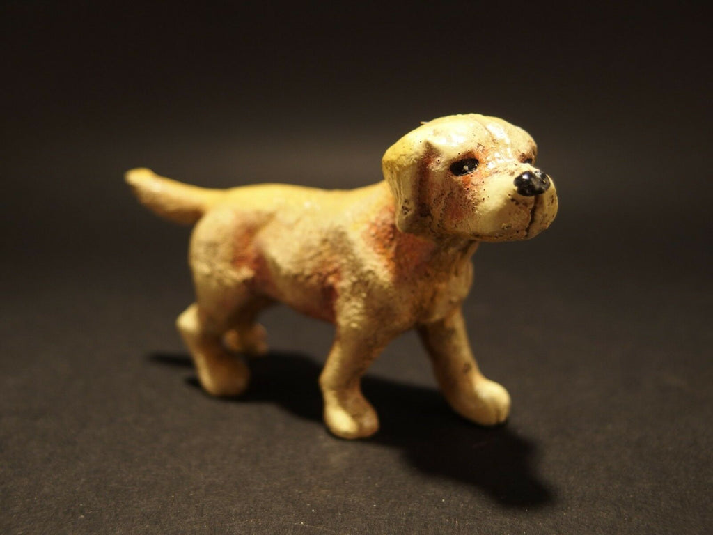 Antique Style Miniature Cast Iron Golden Retriever Dog - Early Home Decor