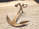 "5"" Vintage Antique Style Brass Nautical Ships Boat Anchor Paperweight Desk - Early Home Decor"