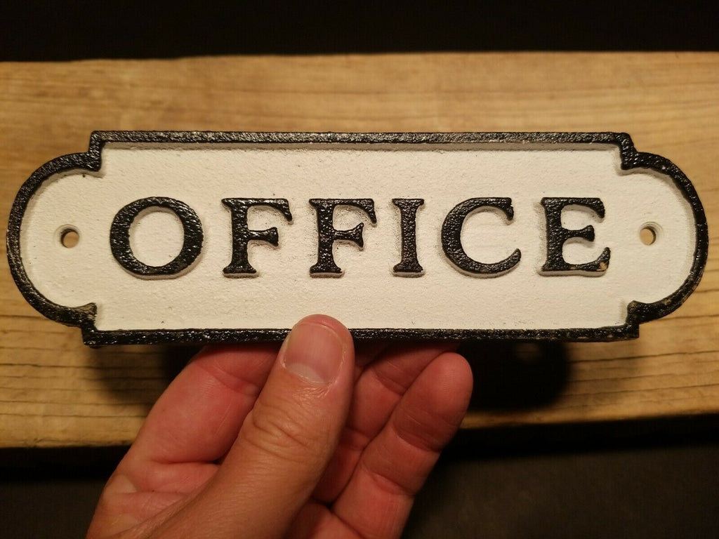 Vintage Antique Style Cast Iron Retro Office Door Sign - Early Home Decor