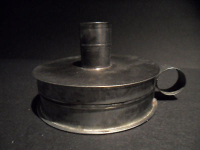 Antique Style Tin Candle Holder Tinder Box Toleware - Early Home Decor