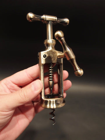 Antique Vintage Style Rack & Pinion Kings Corkscrew Bottle Opener - Early Home Decor