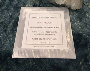 Energetic Support Bracelets: Pink Moon
