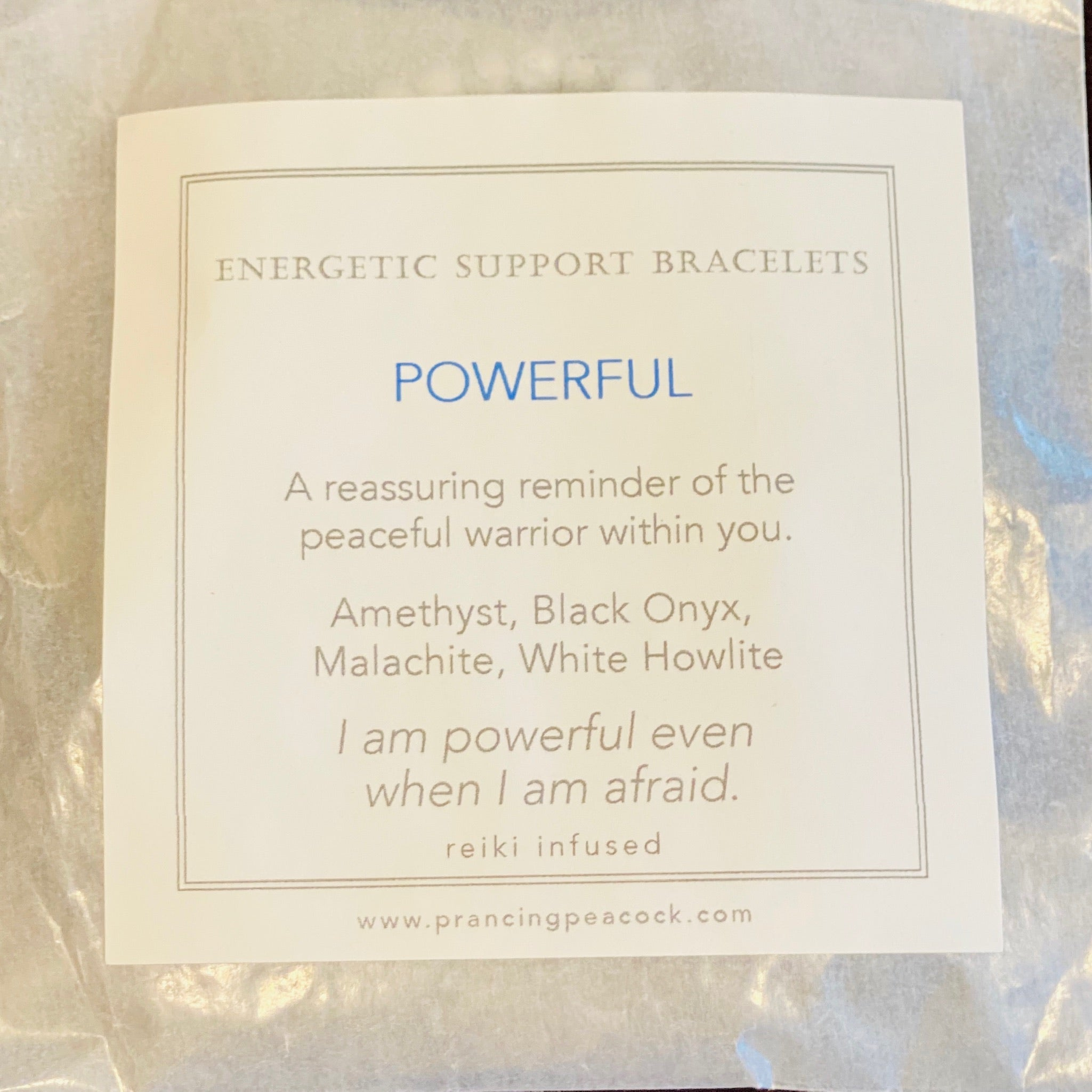 Energetic Support Bracelet: Powerful