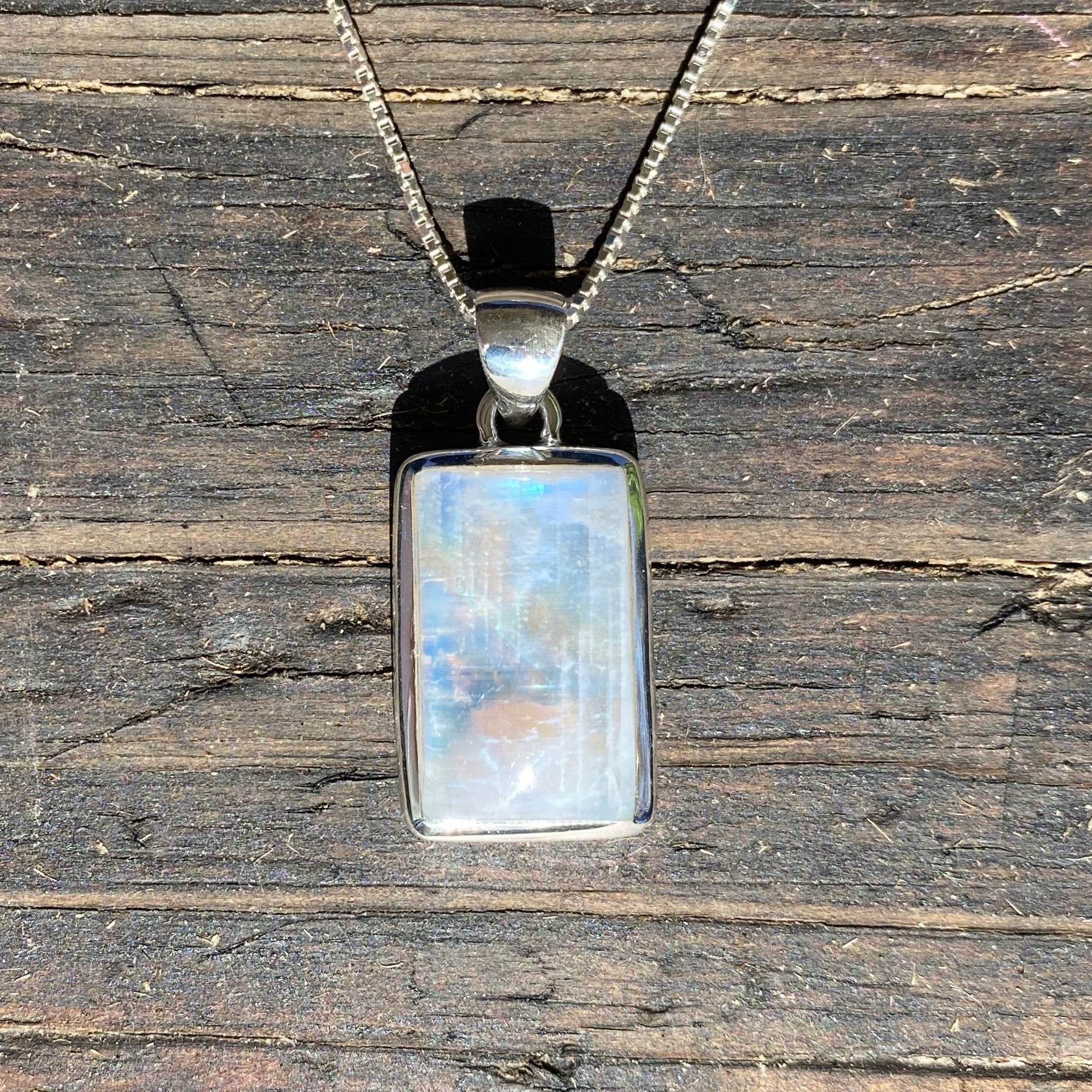 Moonstone Rectangular Pendant