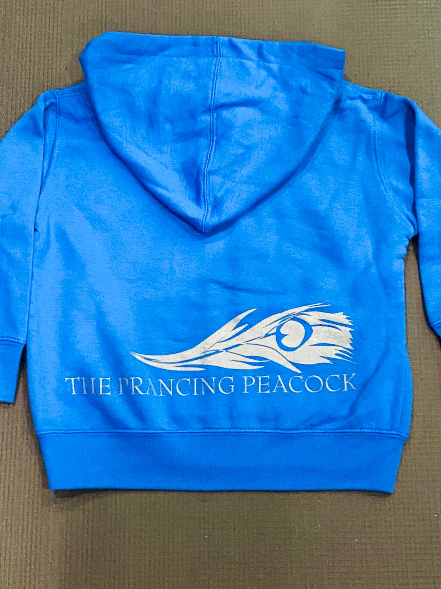 Prancing Peacock Kids Feather hoodie