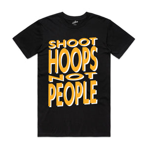 SHOOT HOOPS NOT PEOPLE TEE - BLACK