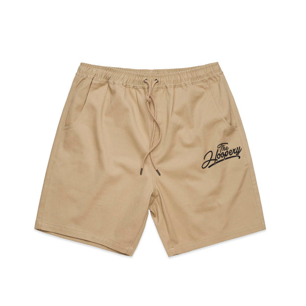 EMBROIDERED REGULAR SZN KHAKI SHORTS