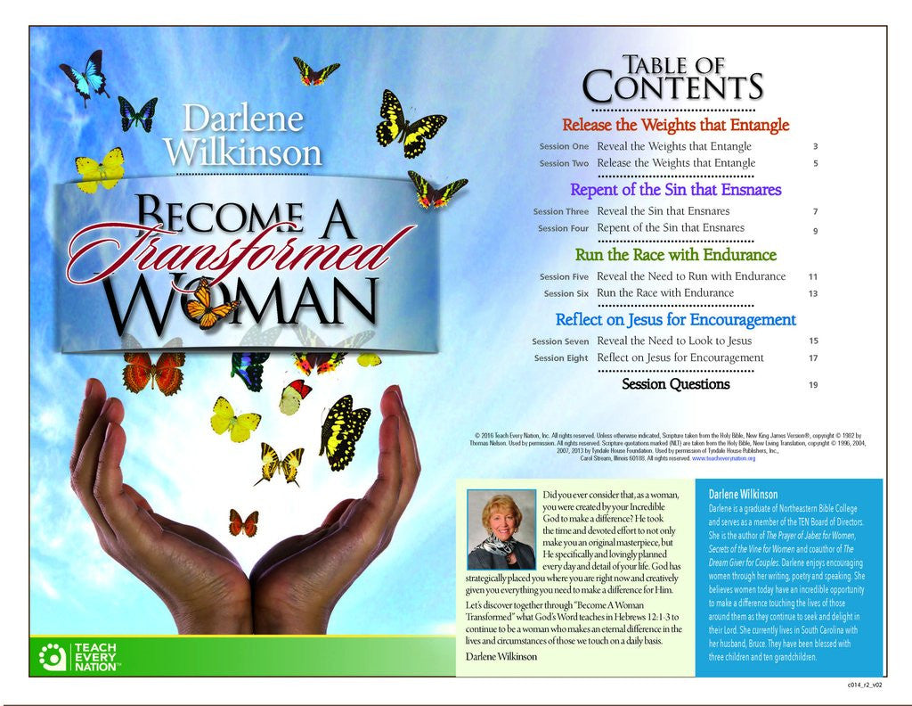 Workbooks christian workbooks for women : Become a Transformed Woman