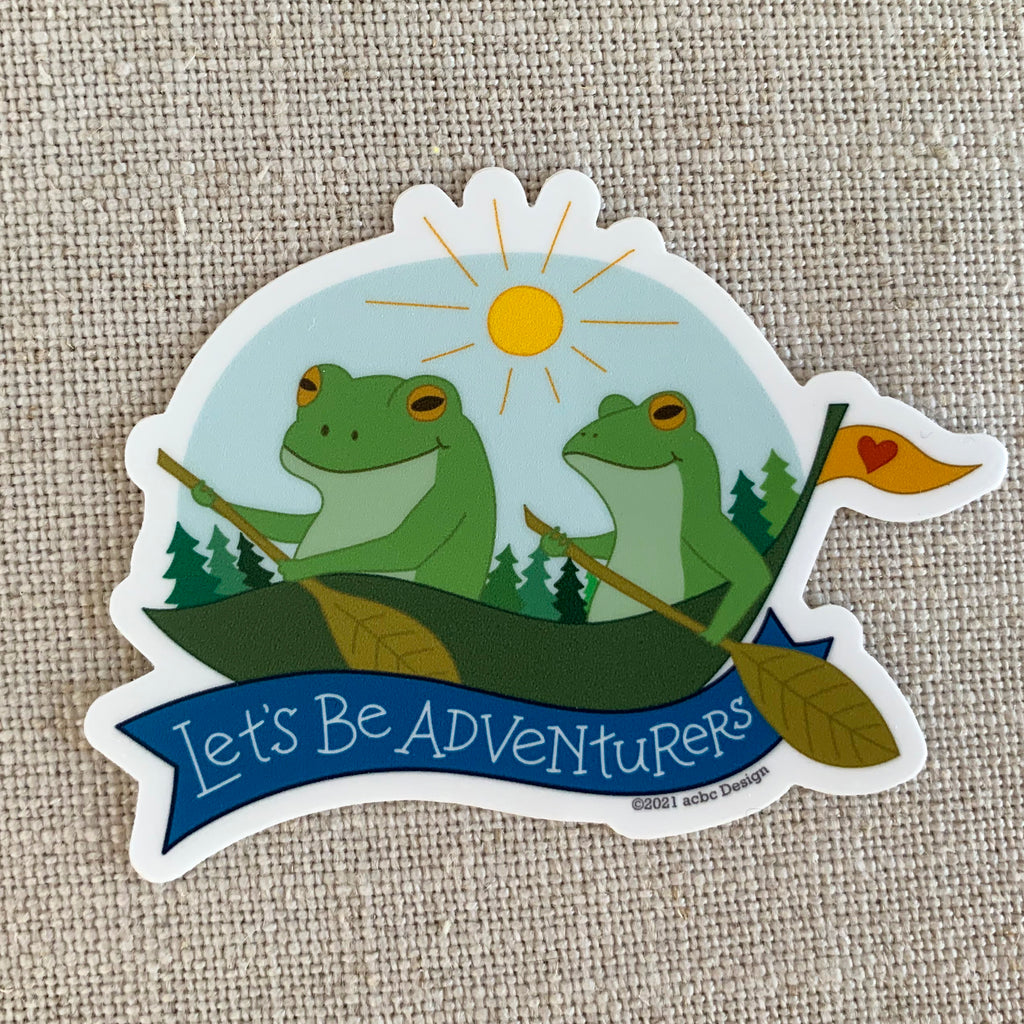 Let's Be Adventurers Vinyl Sticker