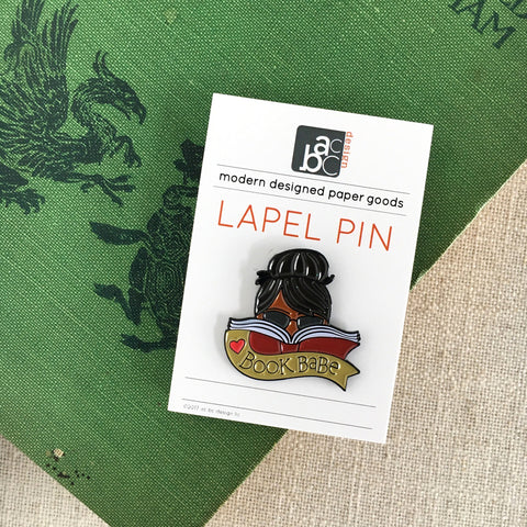 Book Babe African American Lapel Pin