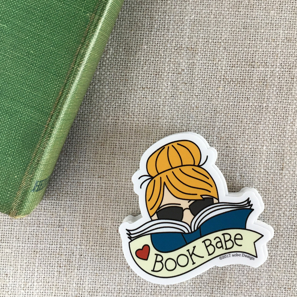 Book Babe Blonde Vinyl Sticker