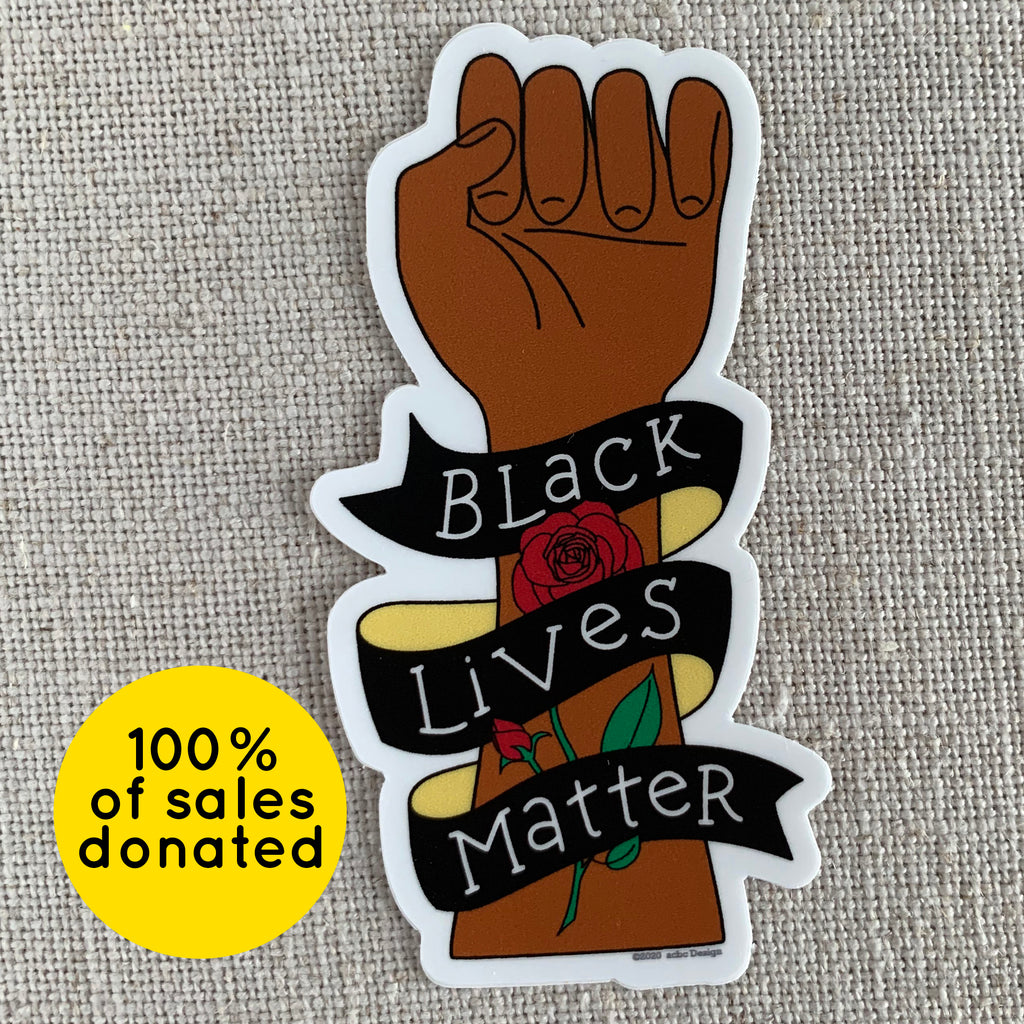 Black Lives Matter Rose Vinyl Sticker