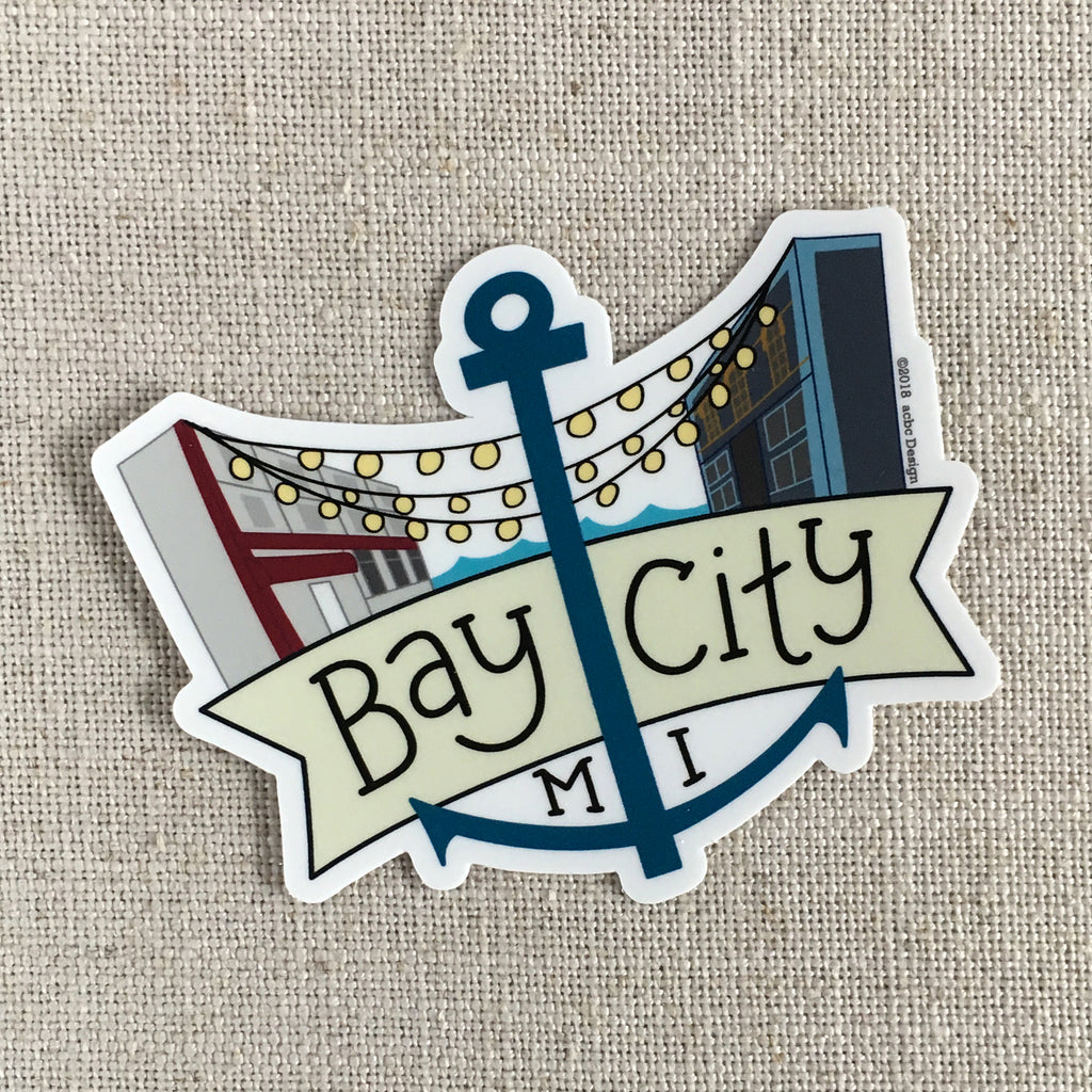 Bay City Anchor Vinyl Sticker
