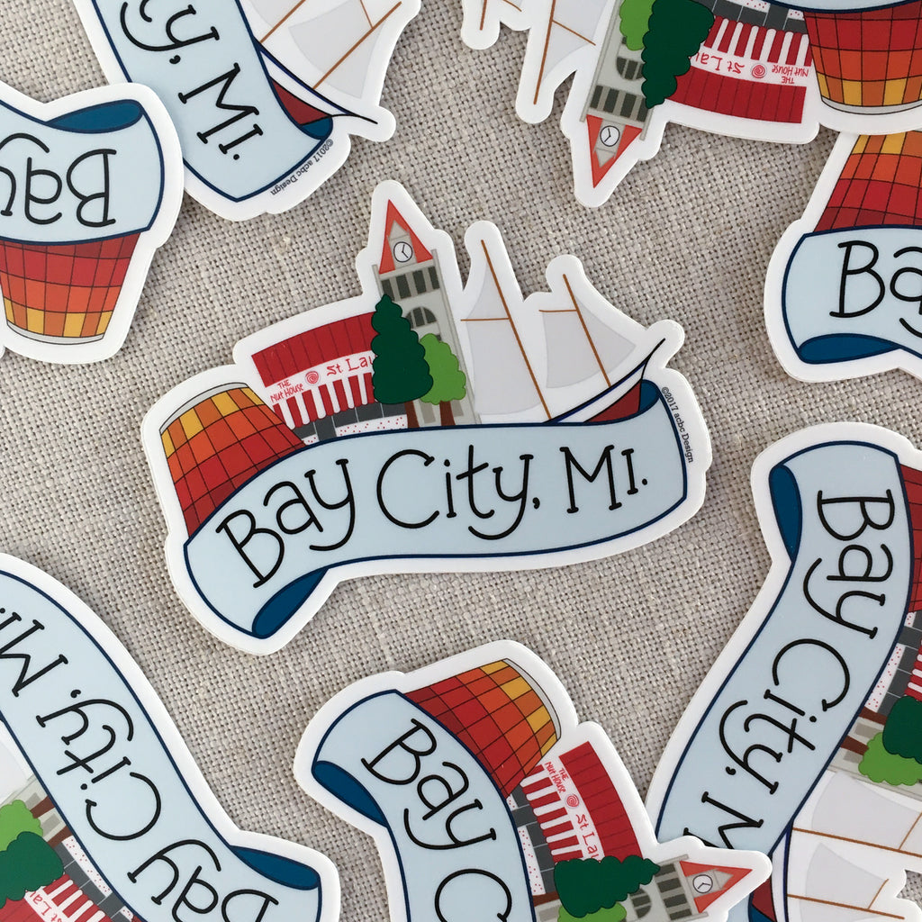 Bay City Michigan Vinyl Sticker