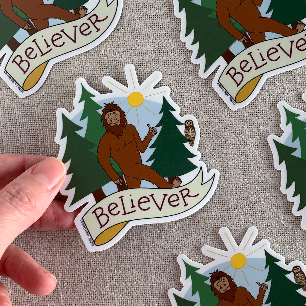 Bigfoot Believer Vinyl Sticker