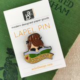 Book Babe Brunette Lapel Pin