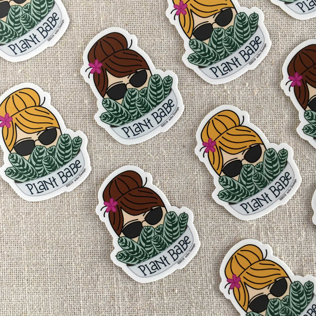 Plant Babe Blonde Vinyl Sticker
