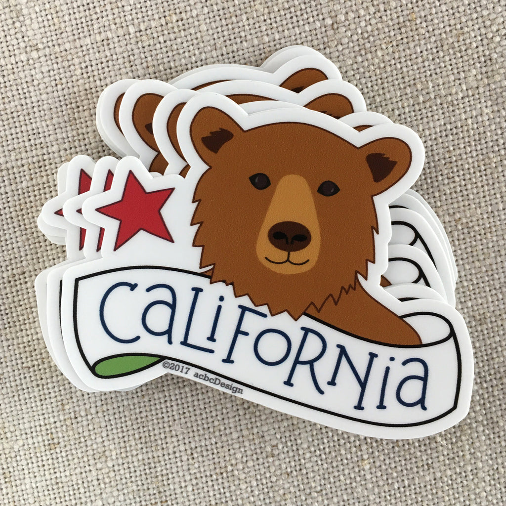 California Bear Vinyl Sticker