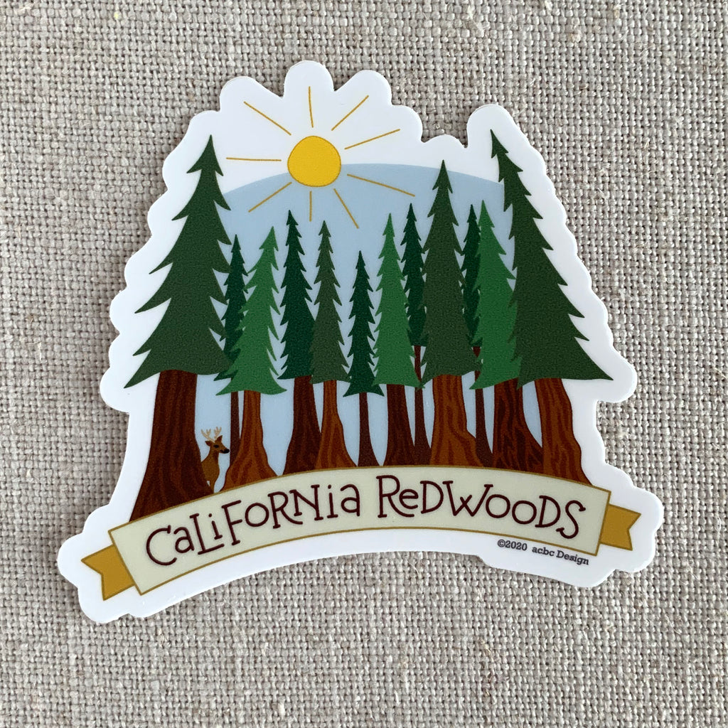 California Redwoods Vinyl Sticker