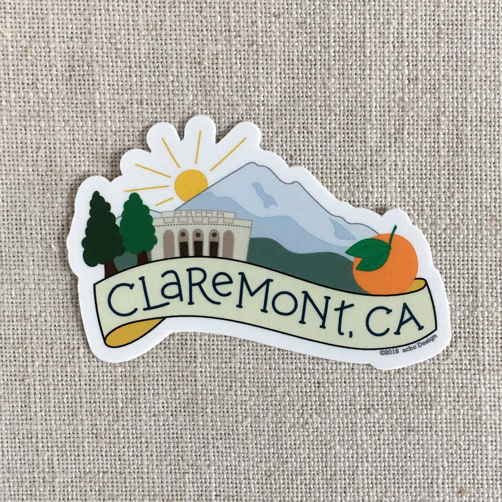 Claremont California Sticker
