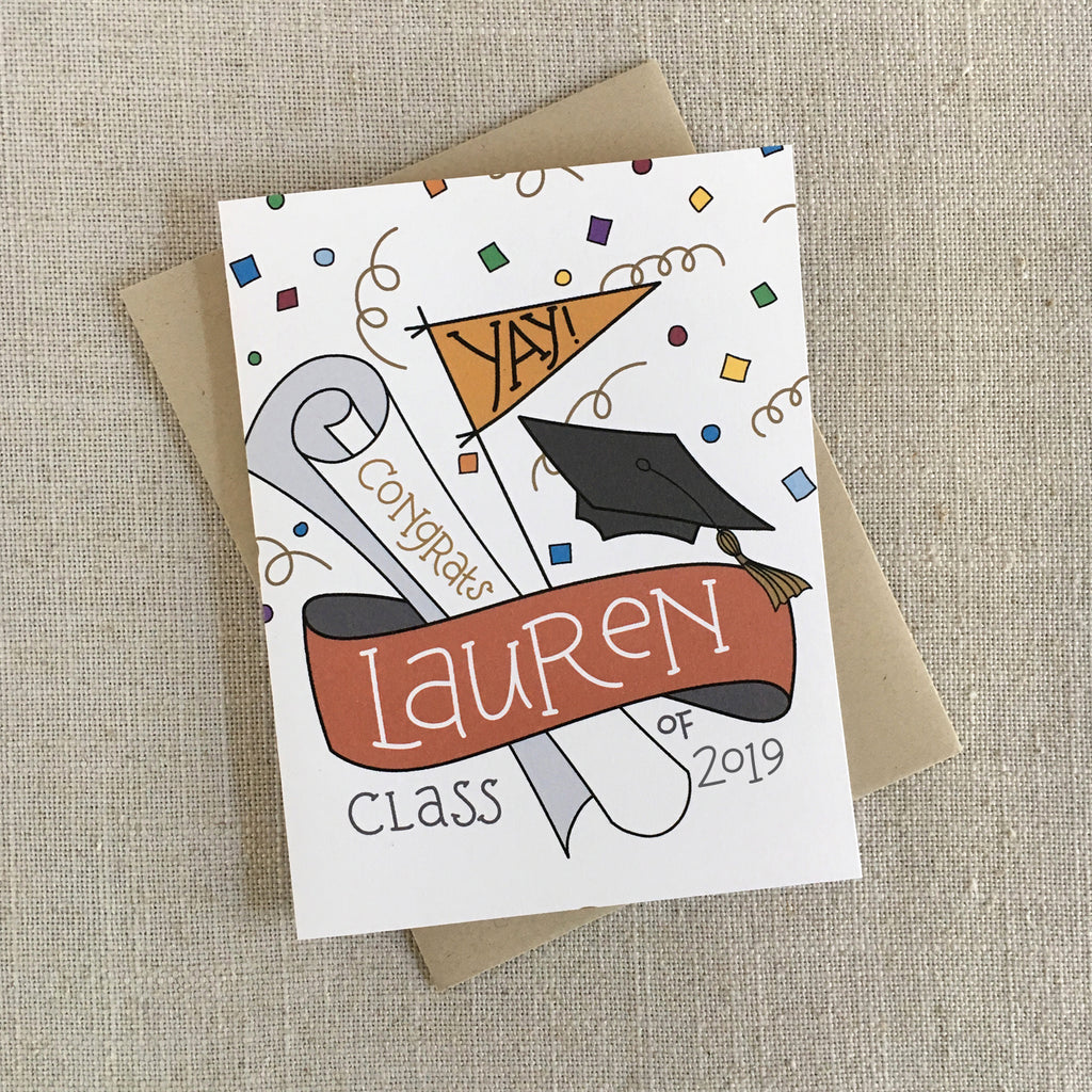 Custom Graduation Congrats Card
