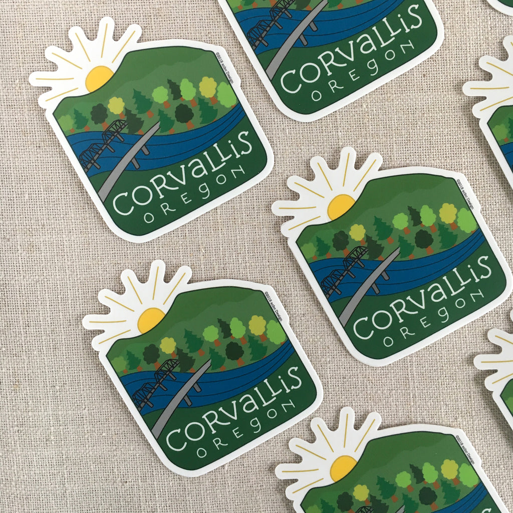 Corvallis Oregon Vinyl Sticker