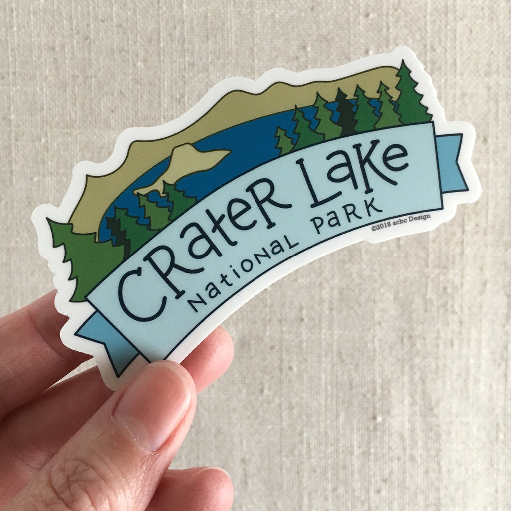 Crater Lake National Park Vinyl Sticker