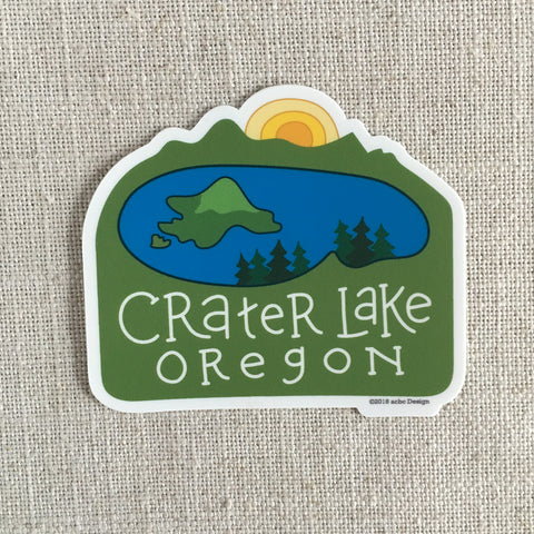 Crater Lake Oregon Vinyl Sticker