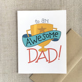 Awesome Dad Trophy Father's Day Card
