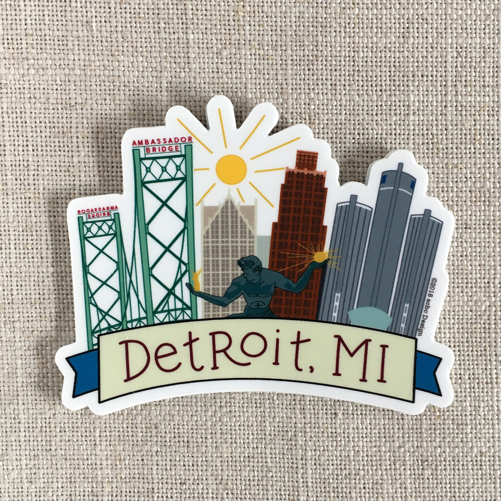 Detroit, MI Vinyl Sticker