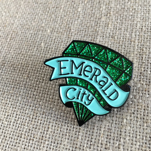 Emerald City Glitter Pin
