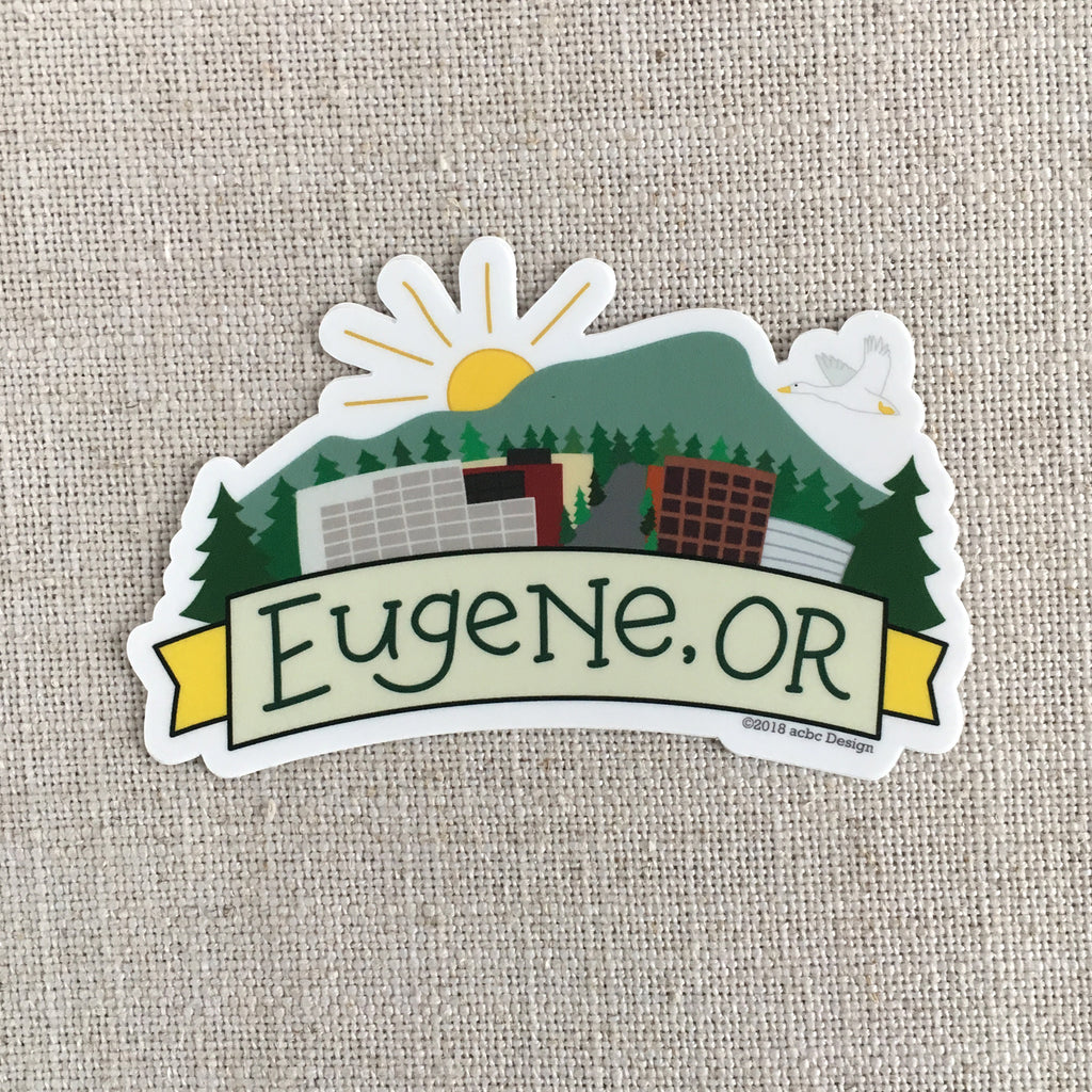 Eugene Oregon Vinyl Sticker
