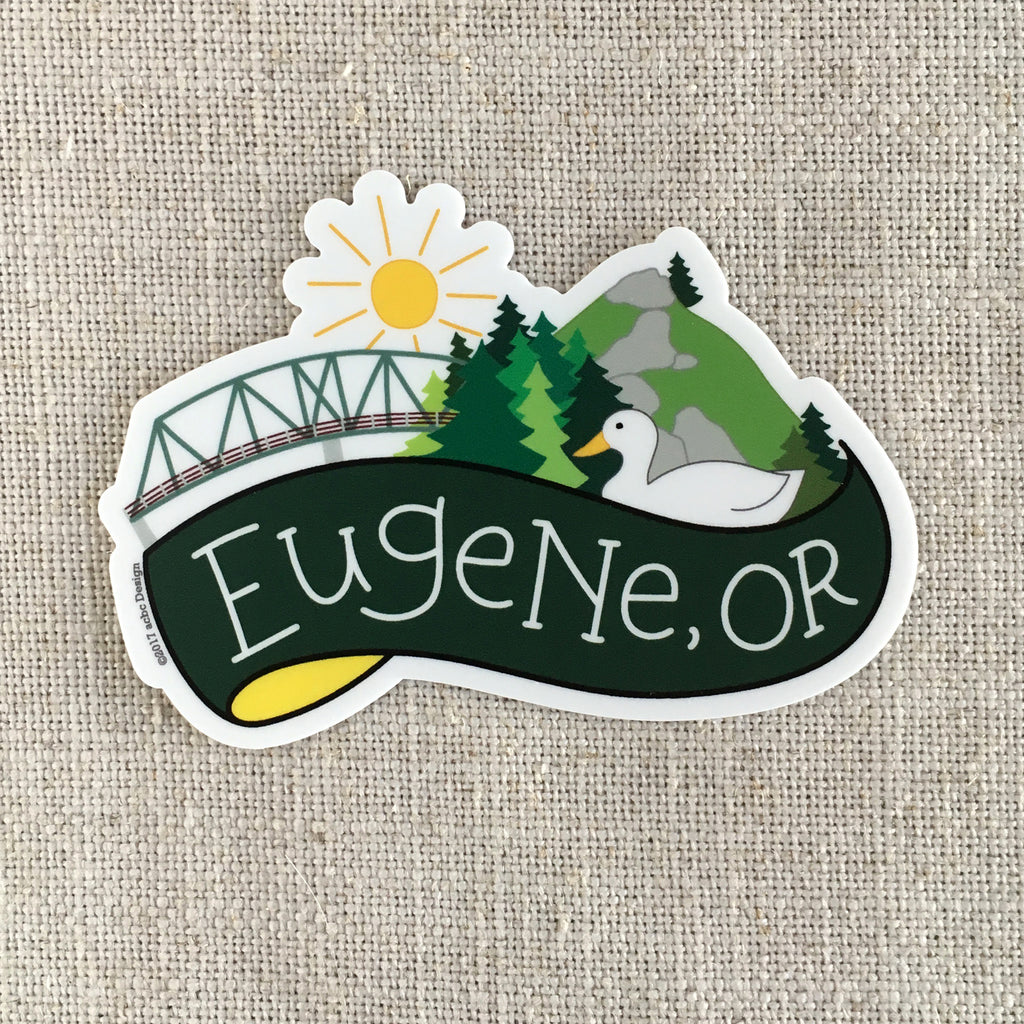 Eugene Oregon Spencer Butte Vinyl Sticker