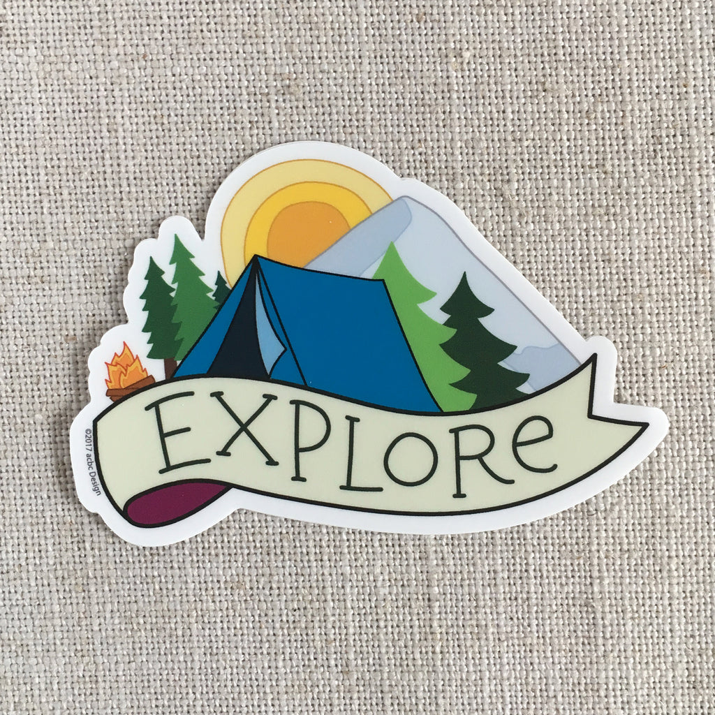 Explore Camping Vinyl Sticker