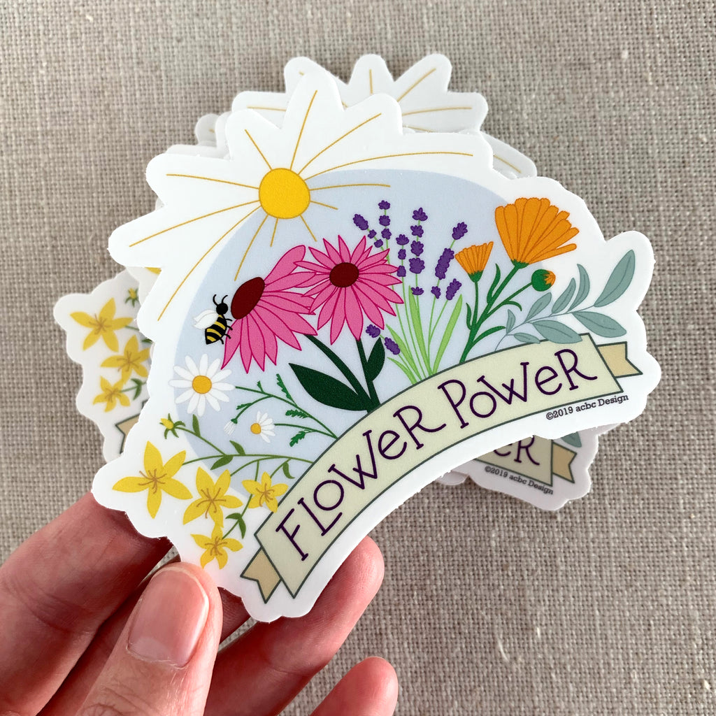 Flower Power Vinyl Sticker