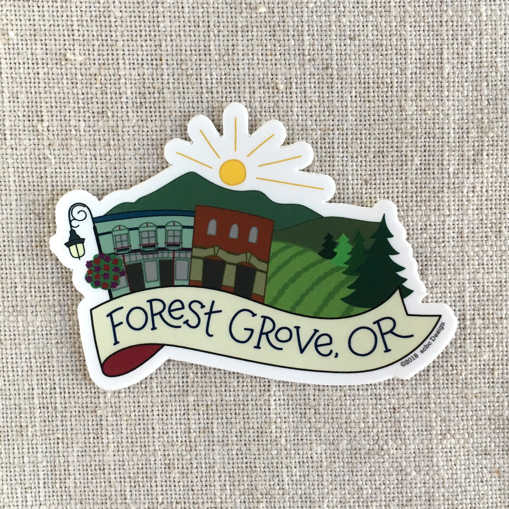 Forest Grove Oregon Sticker