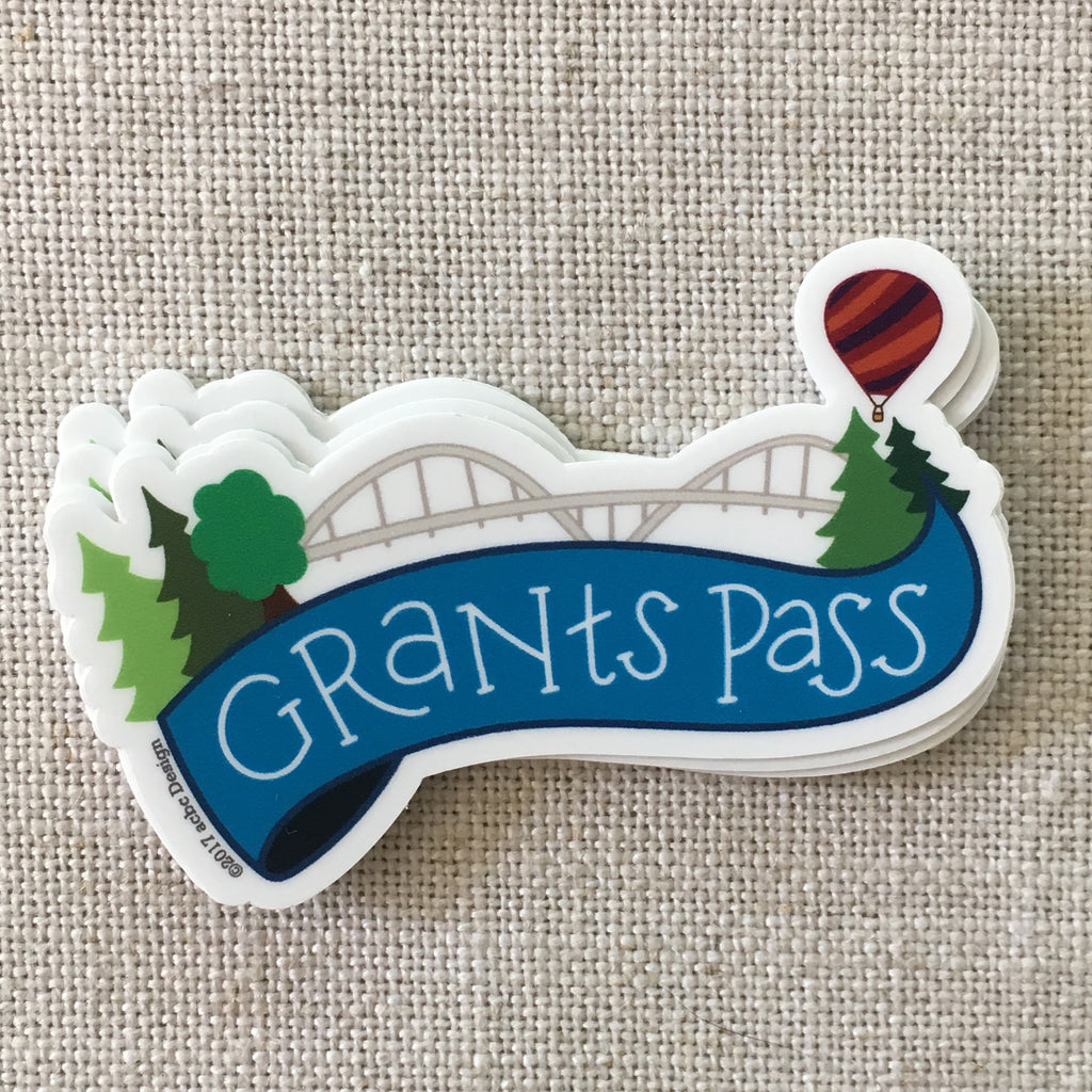 Grants Pass Oregon Vinyl Sticker