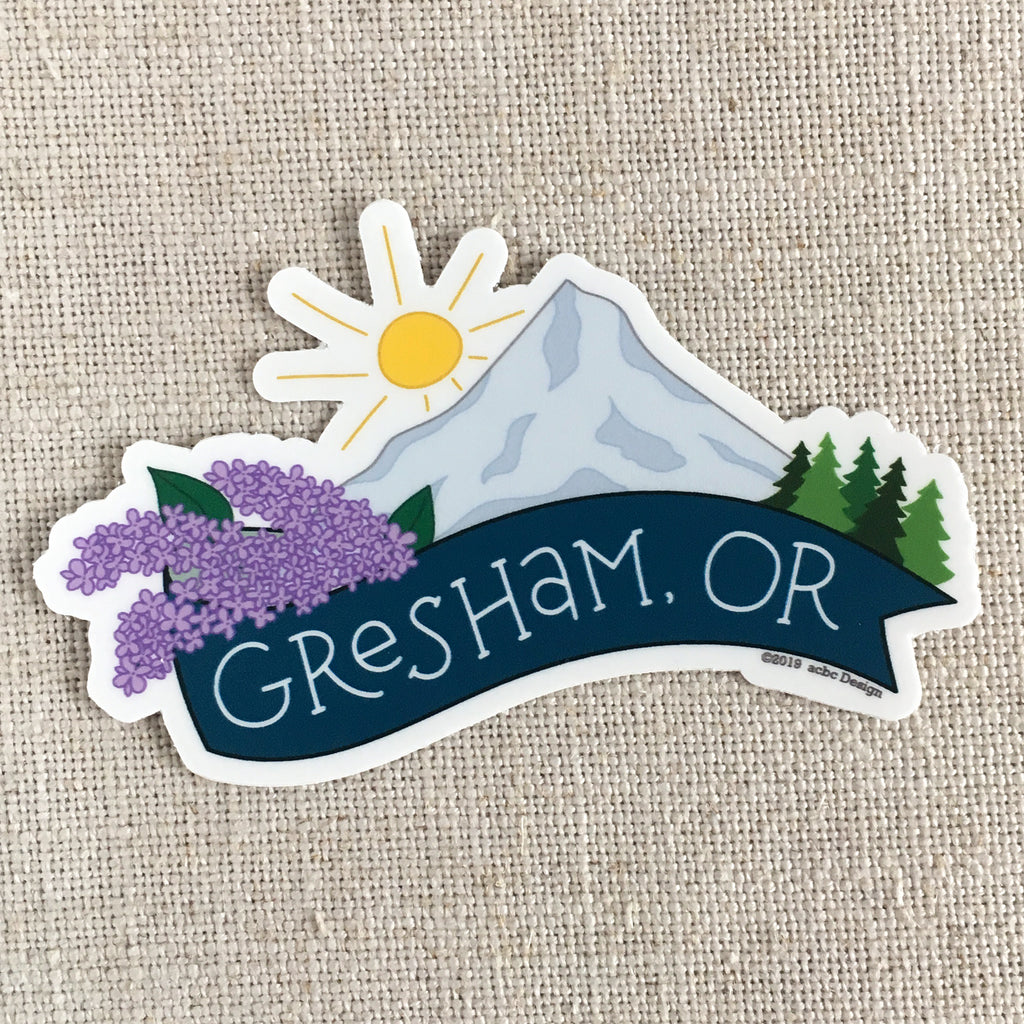 Gresham, Oregon Vinyl Sticker