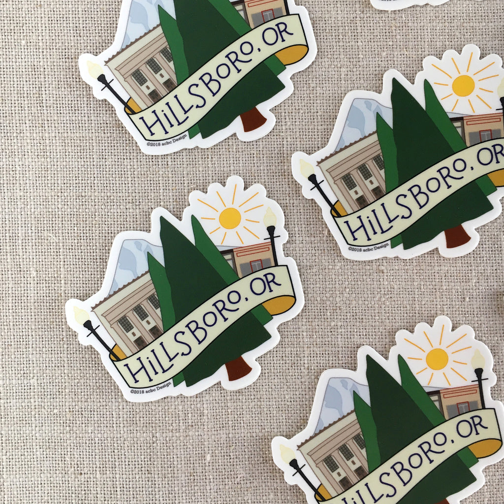 Hillsboro, Oregon Vinyl Sticker