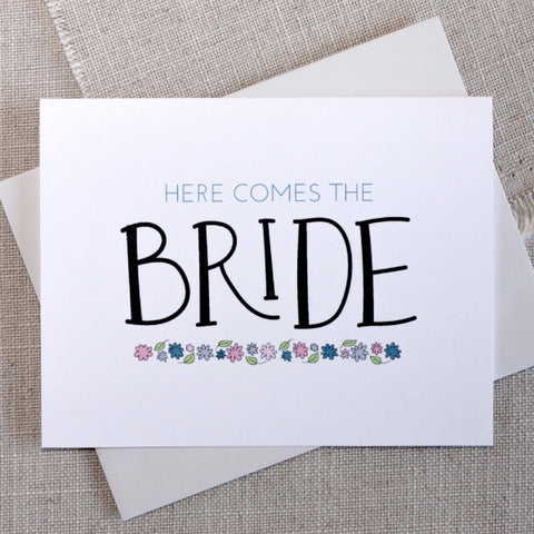 Here Comes the Bride Congratulations Card
