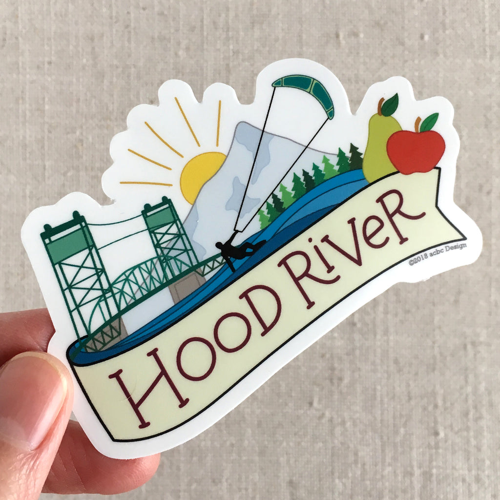 Hood River Oregon Vinyl Sticker