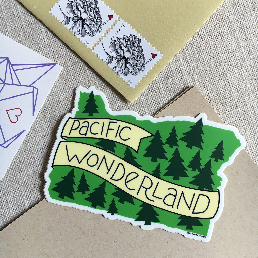 Pacific Wonderland Vinyl Sticker